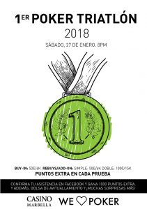 Cartel promocional 1er poker triatlon Casino de Marbella