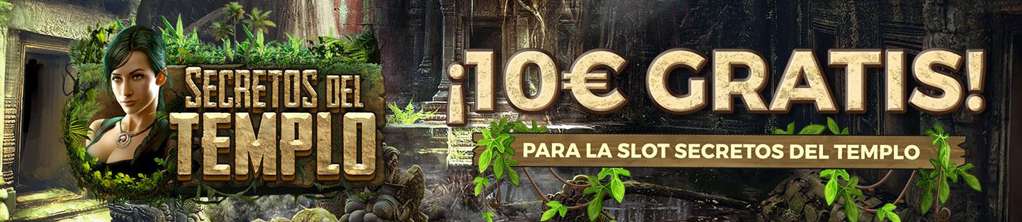 10€ para jugar a la slot Secretos del Templo con Paston