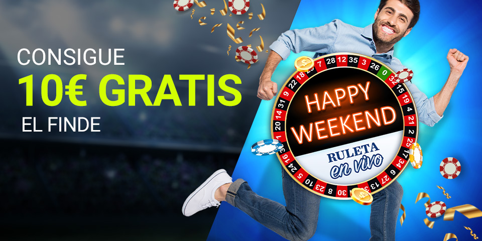 Gana 10€ con Happy Weekend de Luckia