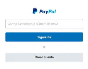 PayPal puerta entrada