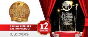 Zitro consigue dos nominaciones Global Gaming Awards London 2021